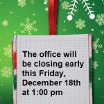 SPECIAL HOURS this Friday 12/18/2020